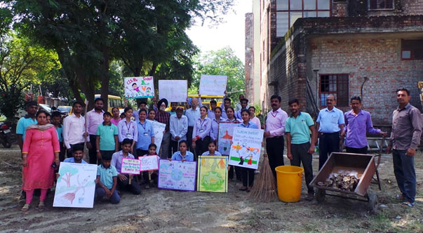 Swachh Bharat Abhiyan practices by D.Ed SE MR & B.Ed SE MR at JSS Ashakiran Special School &