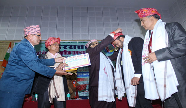 Indo Nepal National Ekta Award received by Mr. Ravi Kumar (Course Coordinator) held at New Delhi.