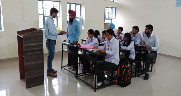 Interaction with students by D.Ed faculty member at JSS Ashakiran Special School & Teacher's Tra